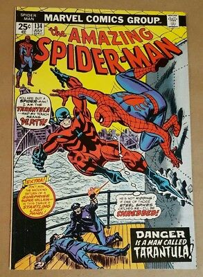 Amazing Spider-Man #134 (1975 Marvel) 1st appearance of the Tarantula Bronze Age