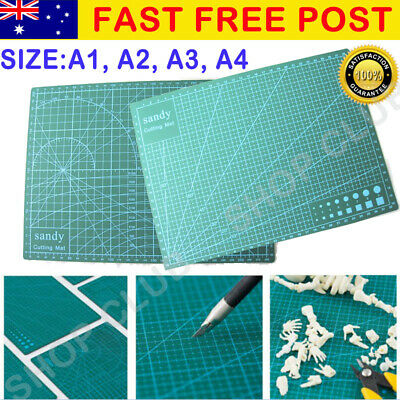 A1 A2 A3 A4 PVC Self Healing Cutting Mat Craft Quilting Grid Lines Printed NEW