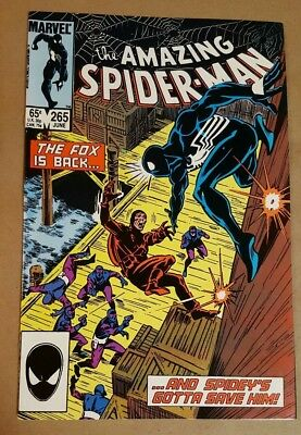 The Amazing Spider-Man 265 First App Silver Sable High Grade 1985 Nice!