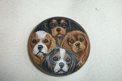 Hand Painted Cavalier King charles Spaniel  refrigerator Magnet