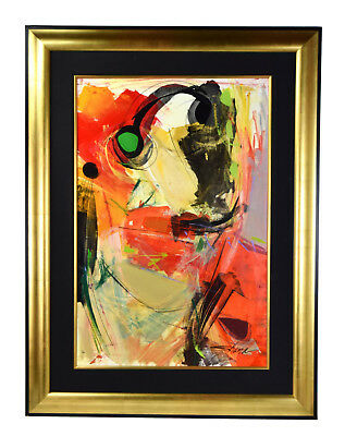 Vintage Modern Abstract Expressionist Oil Painting signed