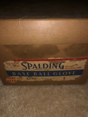 Vintage Spalding Baseball Glove Original Box