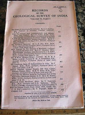 RECORDS OF THE GEOLOGICAL SURVEY OF INDIA 1960 Valudavur Meteorite Gypsum Fossil