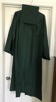 Herff Jones Green Graduation Cap And Gown Fits 511 60 And