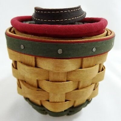 Longaberger Little Elf Basket Combo with American Holly Liner and Protector