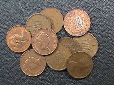 GREAT BRITAIN   LOT    ,   1  Penny  ,   ASSORTED  DATES  ,  10 COINS