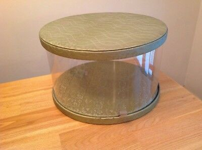 1950s Model Home Hat Box HATBOX Henry Enrich green Quilted round