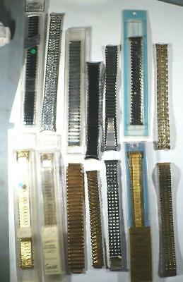 Vintage Bulk Lot Of Mens (Nos) Stainless Steel Wrist Watch Bands