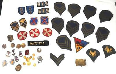 Vintage Military USAF ARMY PATCH & PIN LOT World War II Korea No Reserve