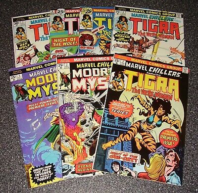 MARVEL CHILLERS (1975) No. 1 2 3 4 5 6 7 TIGRA the Werewoman! MODRED! NICE LOT!