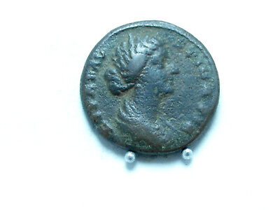 Roman Imperial coin FAUSTINA II,w.of M.Aurelius  AE As,24mm; 10g. Rome.VF.Scarce