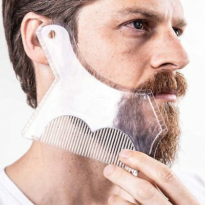 1Pc Beard Shaping Styling Trimming Shaper Template Guide for Shaving or Stencil