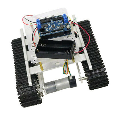 Arduino+WiFi Control Smart Robot Tank Car Chassis Kit Rubber Track
