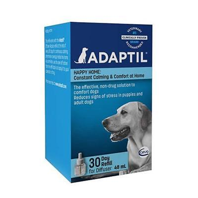 Adaptil 30 Day Starter Kit Dog Calming Comfort Plug In Diffuser Refill 48ml