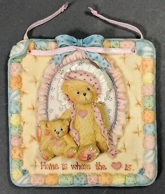 Cherished Teddies ~ Quilts of Friendship - Wall Plaque (627372)  **MINT**