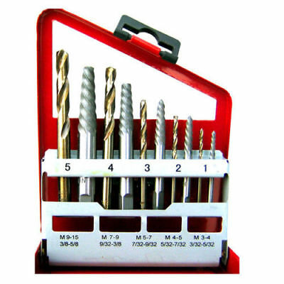 Screw Extractor   Right Hand Cobalt Drill Bit Set Easy Out Broken Bolt 10 PC