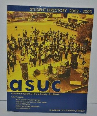Associated Students of the University of California Student Directory 2002-2003
