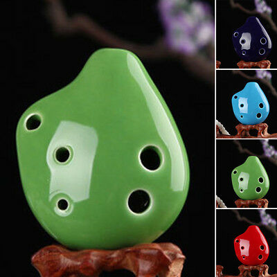 6 Hole Ocarina Soprano C Key Ceramic Music Instruments Mini Ocarina Flute Toy H1