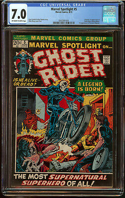 Marvel Spotlight #5 CGC 7.0 OW/W P Origin First app Ghost Rider HOT BA Key Comic