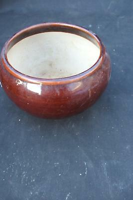 Taincraft Planter Contemporary Pottery Flower Pot Brown