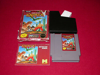 Karnov Data East NES Original Nintendo Entertainment System CIB with Box Manual