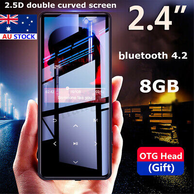 2.4'' 8GB Portable HiFi bluetooth Ultrathin Touch Screen Music MP3 MP4 Player