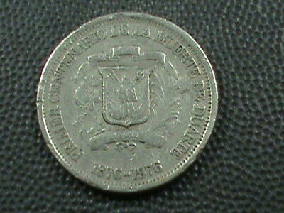 DOMINICAN REPUBLIC   25 Centavos   1976   ,   $ 2.99  maximum  shipping  in  USA