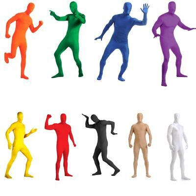 Adult Men Women Spandex Costume Full Body Suit Zentai Invisible Bodysuit AU