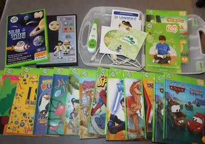 Leap Frog Tag Reading System lot~Pen~USB Cable~Books~Carrying Case~Solar System