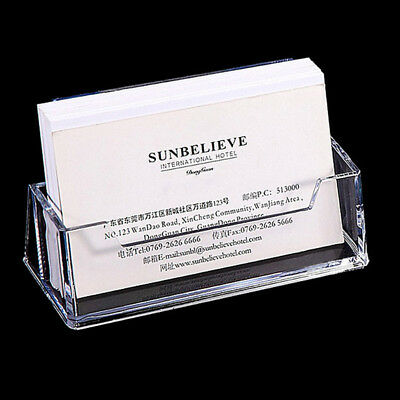 2018 Acrylic Clear Desktop Business Card Holder Stand Display Office