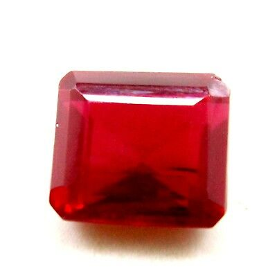 15.35 Ct Natural Mozambique Blood Red Ruby Manik Emerald Cut Gems Ggl Certified