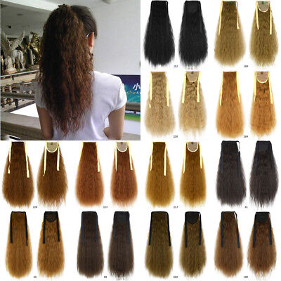37 Colors Synthetic Hair Curly Ponytail Extension Drawstring Clip In Hairpiece