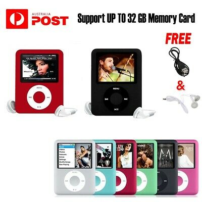 iPod Style LCD With Up TO 32GB Memory MP3 MP4 Music Video Media Player FM Radio