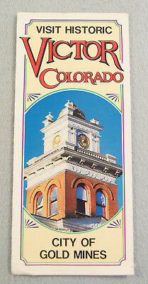 Visit Historic Victor Colorado City of Gold Mines Visitor Guide Program Map