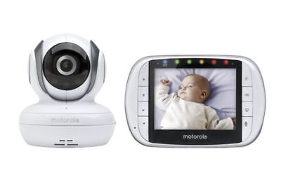 Motorola Remote Wireless Video Baby Monitor with 3.5Inch Color LCD Screen MBP36