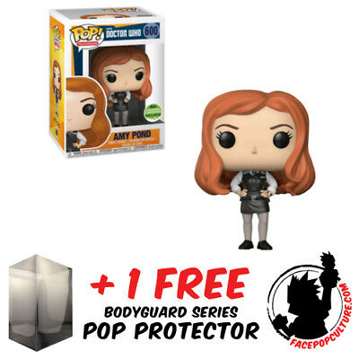 Funko Pop Doctor Who Amy Pond Police Eccc 2018 Exclusive + Free Pop Protector