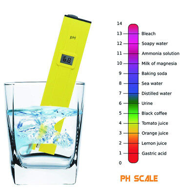 Pocket Digital Electric PH Meter Tester Hydroponics Aquarium Water Test Pen LCD
