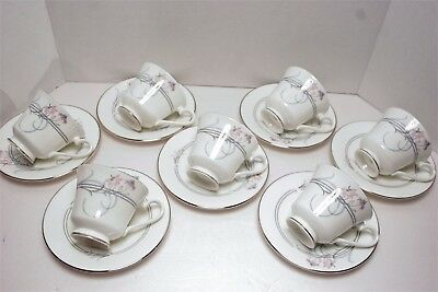 LOT of 7 Royal Doulton ALLEGRO H5109 Footed Cup & Saucer SETS