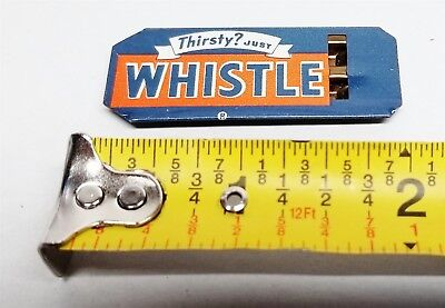 #90 Vintage 30's/40's Tin Litho Golden Orange Refereshment Thirsty Just Whistle