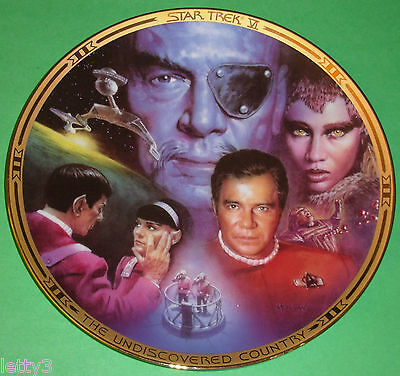 RARE STAR TREK VI: THE UNDISCOVERED COUNTRY MOVIES PLATE New COA FIRST RUN