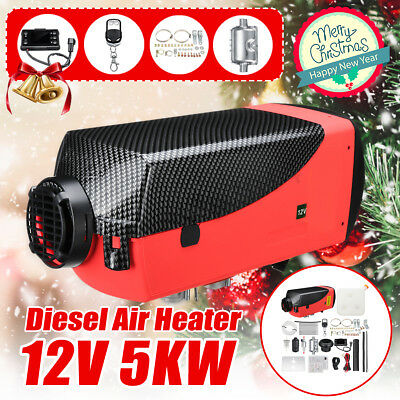 5KW 12V Diesel Air Heater LCD Thermostat Quiet 5000W For Trucks Boat Car Trailer