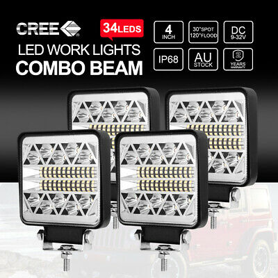 50inch Curved CREE LED Light Bar 324000LM Two Rows Spot Beam Work Driving 4x4