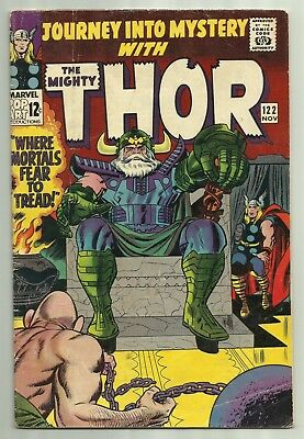 The Mighty Thor #122 Marvel 1967 Kirby Cover Stan Lee Early Absorbing Man
