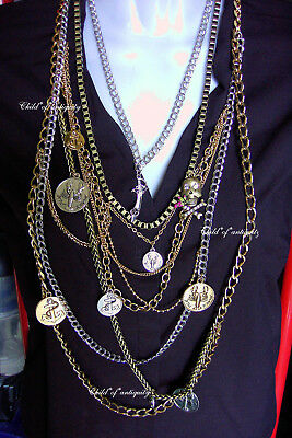 Betsey Johnson Anchor Lobster ROSE Pirate SEA Skull Skeleton Chains Necklace WOW