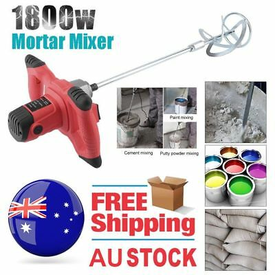 UNIMAC Drywall Mortar Mixer 1800W Plaster Cement Tile Adhesive Render 0@ YUI