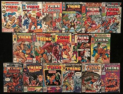 Marvel Two-In-One #15 - 98 Bronze Age (Lot of 17) Thing Ms Marvel Iron Man Fury