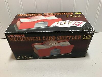 Hand Cranked Card Shuffler (2-Deck) Easy To Use Chh US SELLER  Gently Used