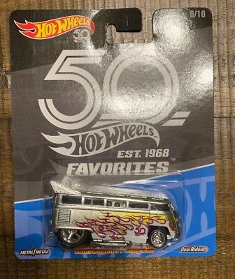 2018 Hot Wheels 50th Favorites Volkswagen T1 Drag Bus Near Mint Brand New