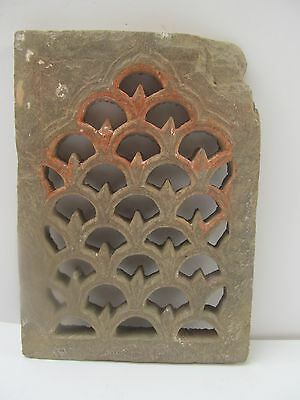 Original Indian Antique Hand Carved Sand Stone Architectural Jali Window