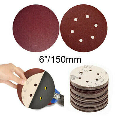 "Sandpaper 6"" / 150mm Sanding Discs 80~2000 Grit Sander Pads Hook and Loop"